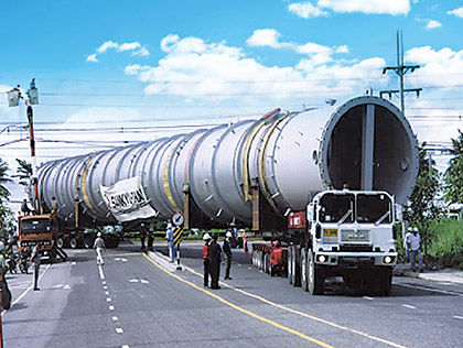 Break bulk cargo on truck